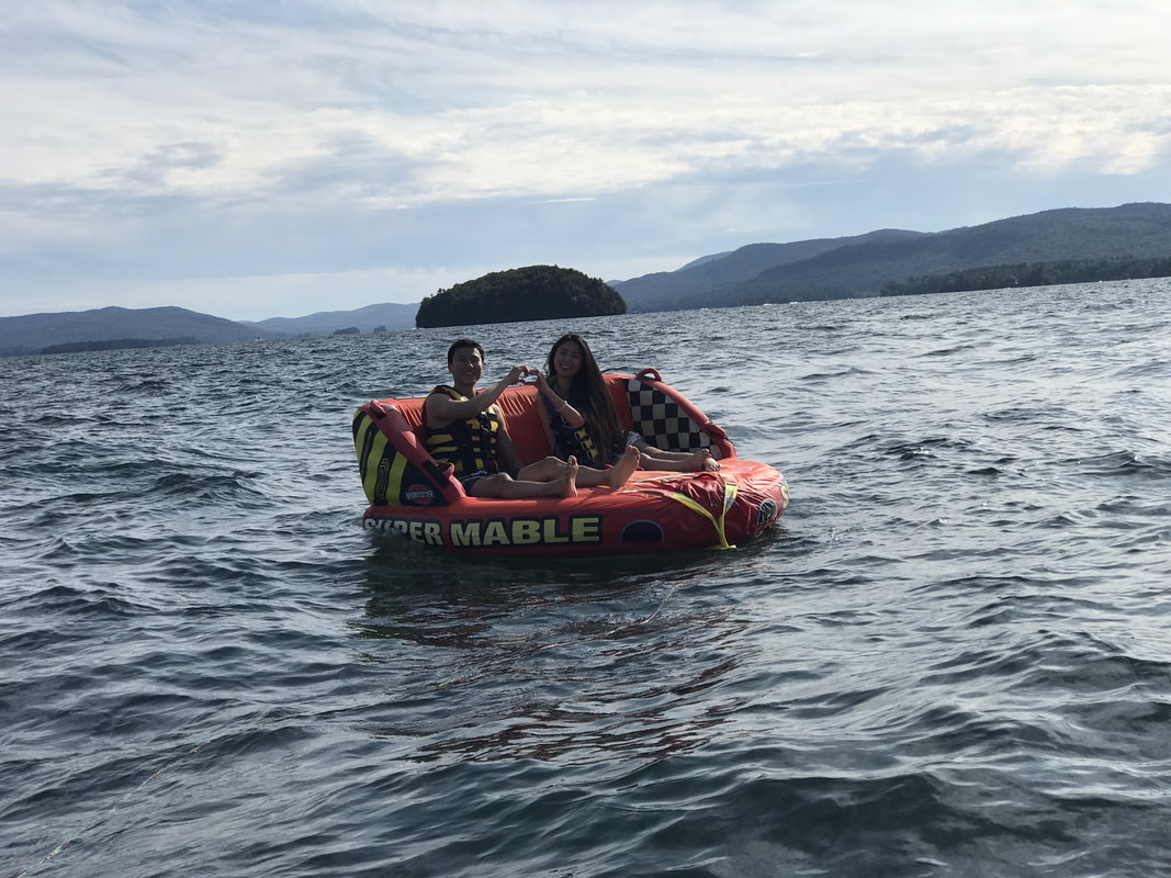 Tubing on Lake George